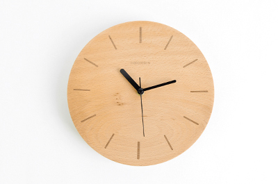 Concave Stripes Wall Clock